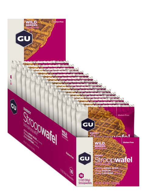 GU Energy StroopWafel Gluten Free Box Wild Berry 16 x 30g